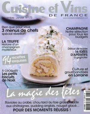 Cuisine et Vins de France Décembre-Janvier N°173